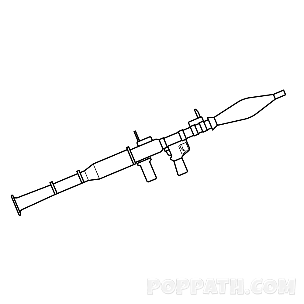 1000x1000 How To Draw A Rocketlauncher Pop Path