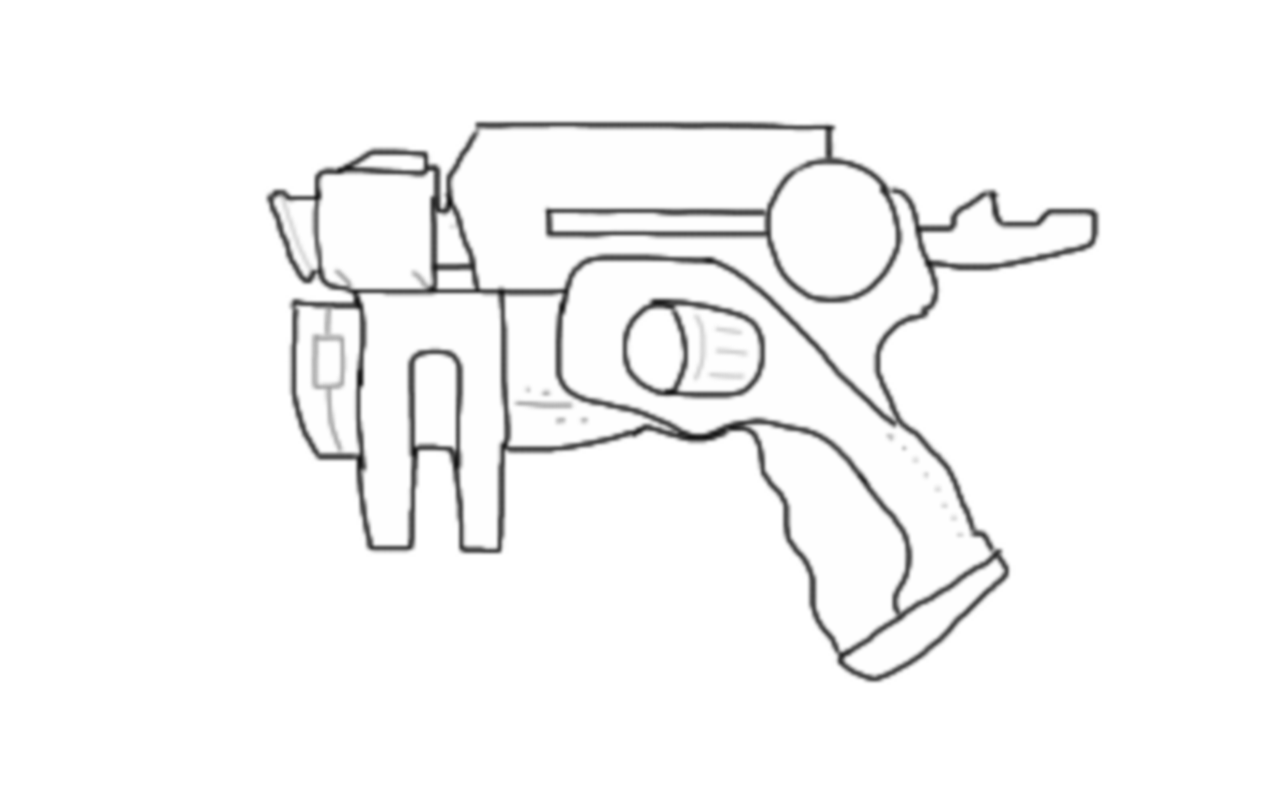 1280x800 Line Drawings For Blasters Nerf