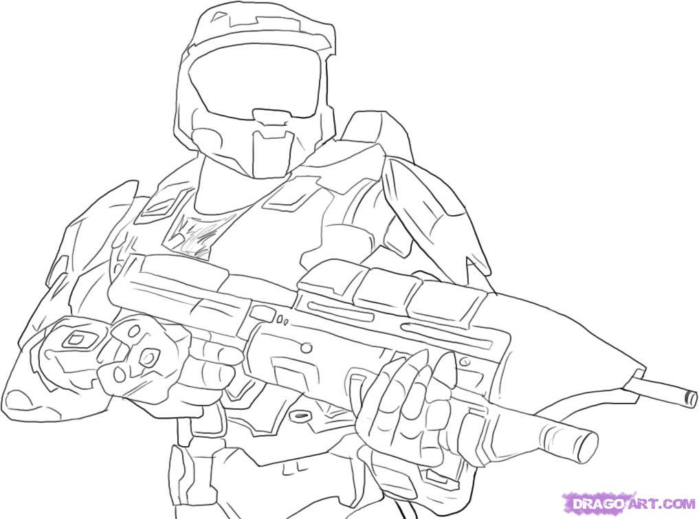 1017x755 Master Chief Sketch