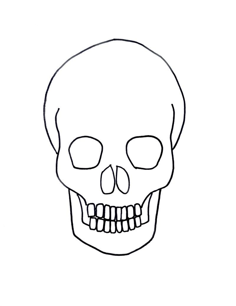 800x1037 Skull Drawings Easy Halloween ~ Halloween Skulldrawing Phenomenal