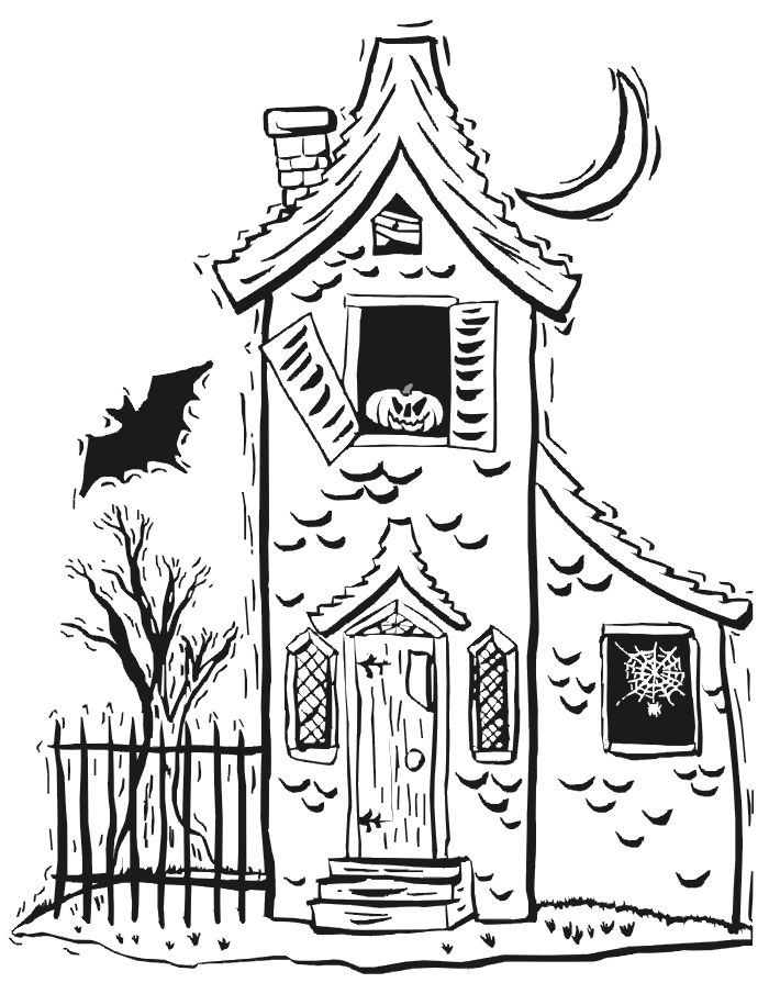 Easy Haunted House Drawing at GetDrawings.com | Free for personal ...