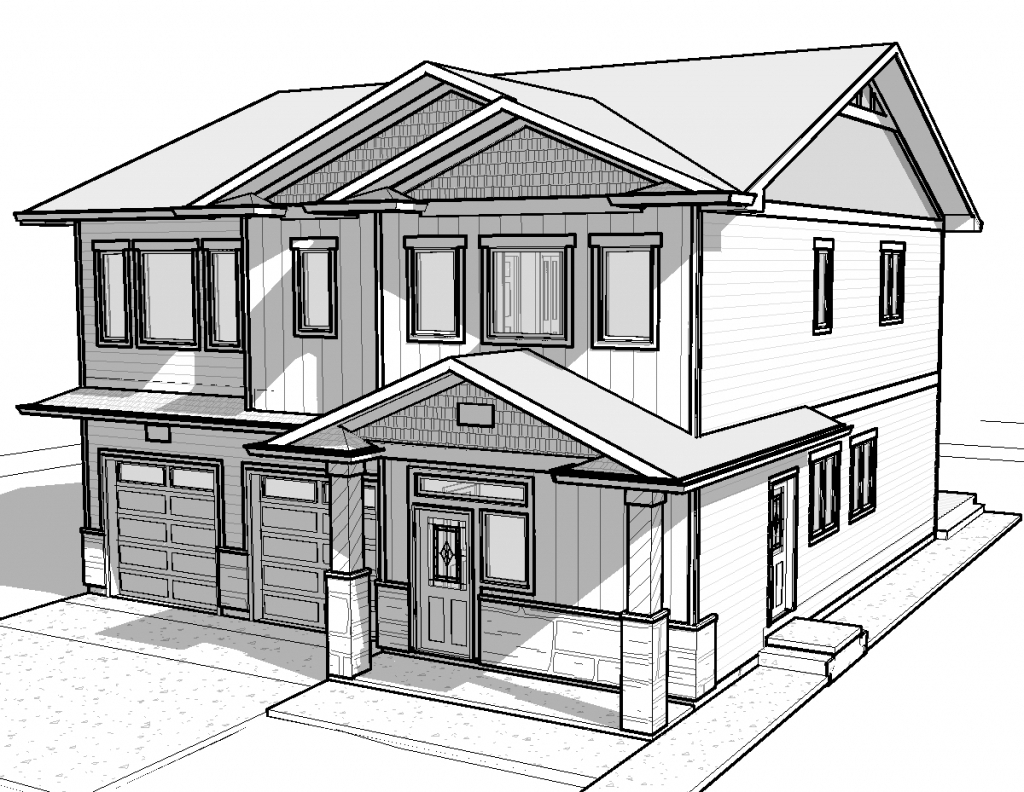 1024x792 3D House Drawing Pencil Easy Way To Draw Pencil Sketches