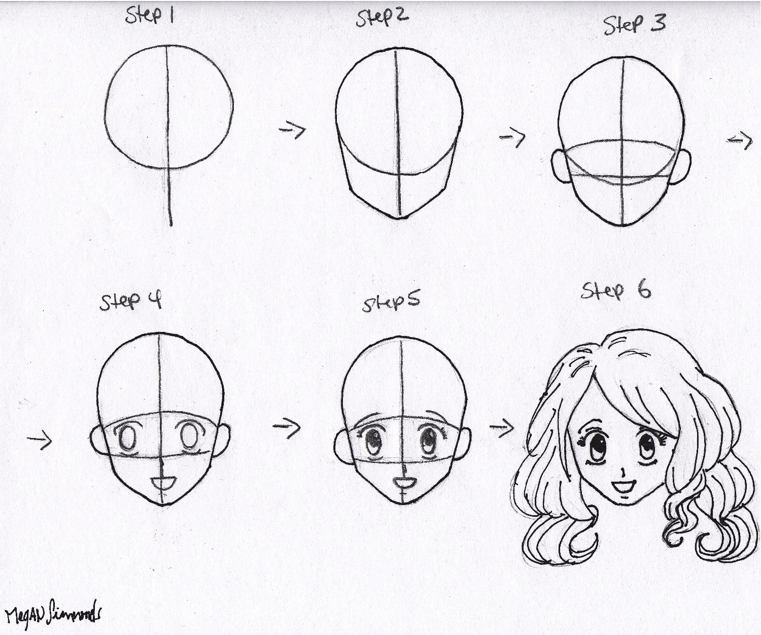 1500x1251 Easy Face Drawing Step By Step