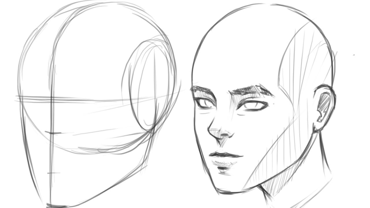 1280x720 How To Draw Human Head 34 View