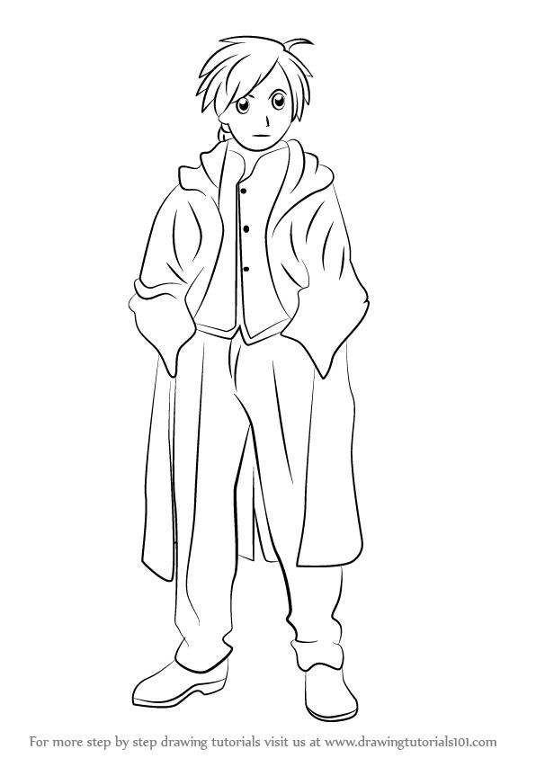 596x843 Learn How To Draw Alphonse Elric Human From Fullmetal Alchemist