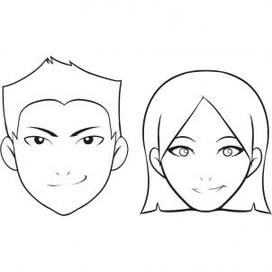 302x302 Unit 1 How To Draw A Face Face, Drawings And Cartoon People