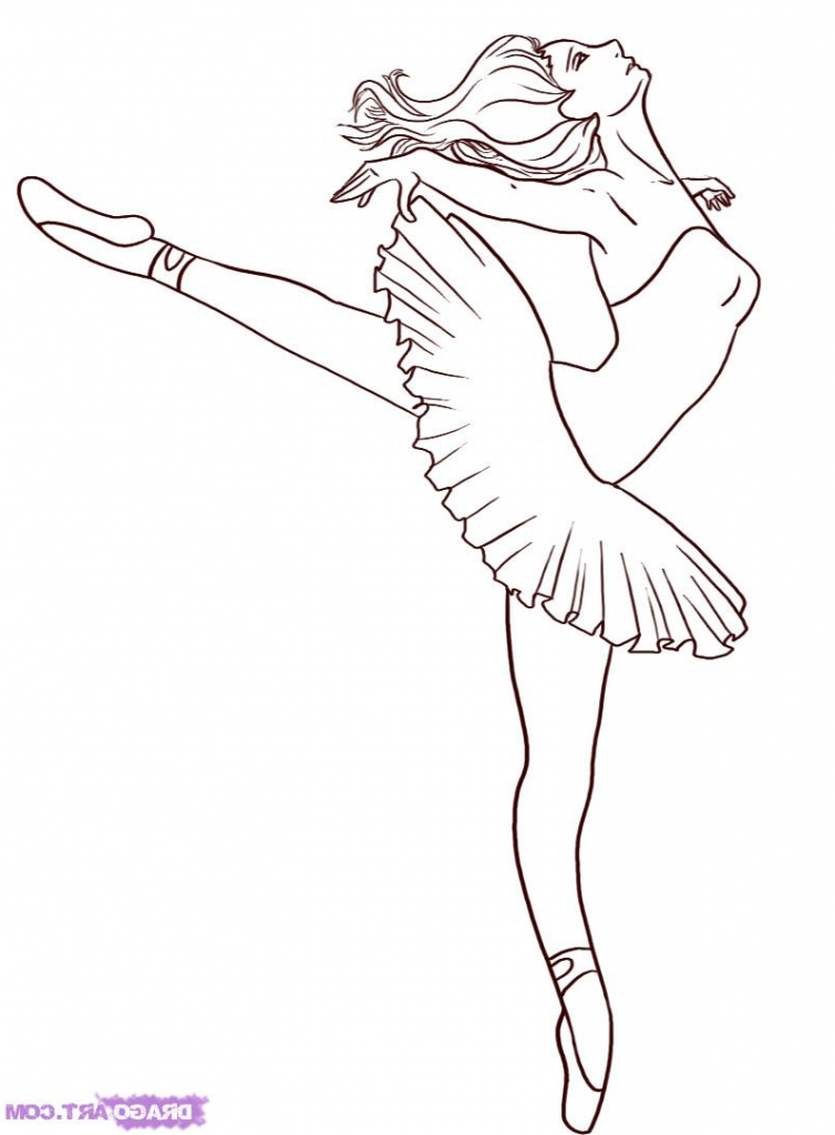 754x1024 Easy Ballerina Drawing Easy Ballerina Drawing How To Draw