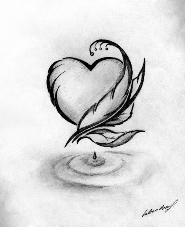 600x734 Gallery Heart Drawings Images,