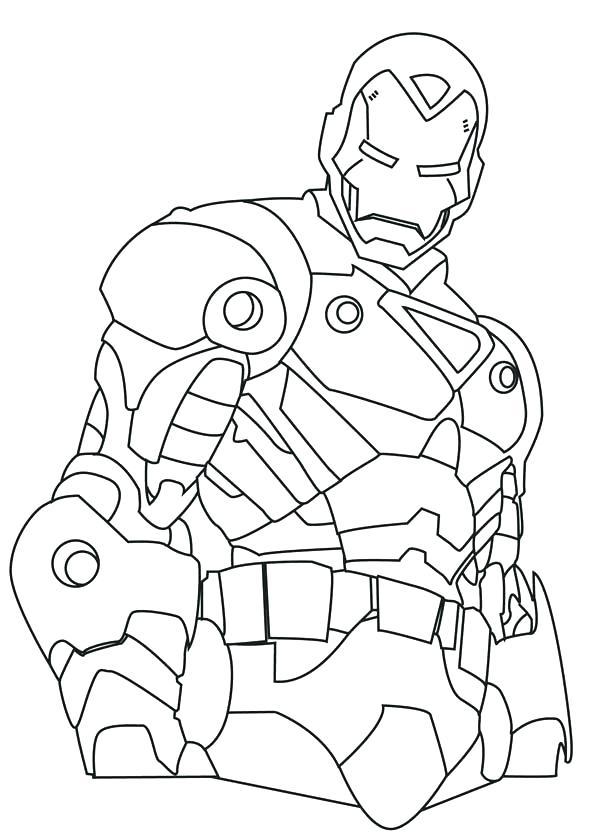 Easy Iron Man Drawing