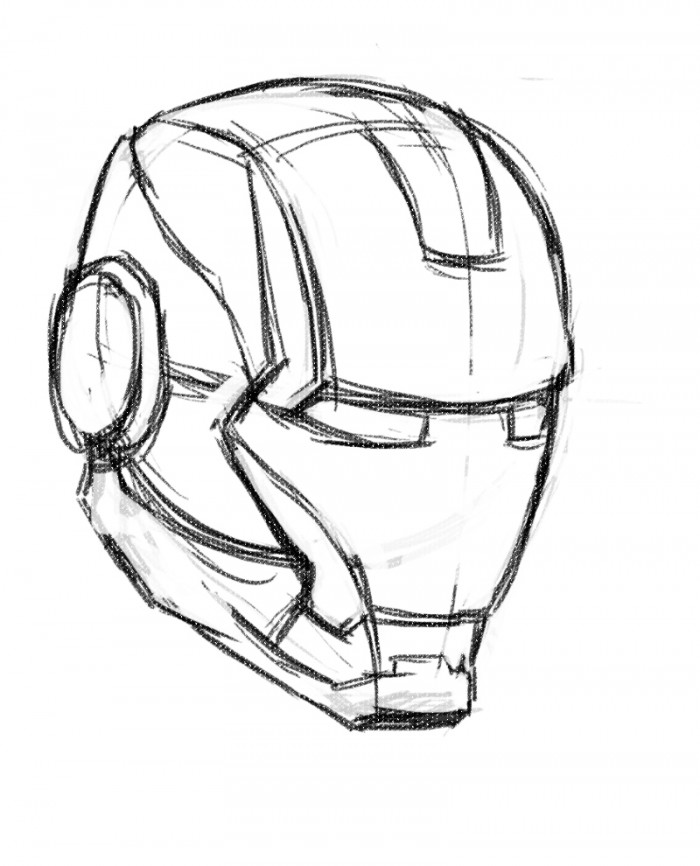 Man S Face Line Drawing : Easy iron man sketch pixshark images galleries