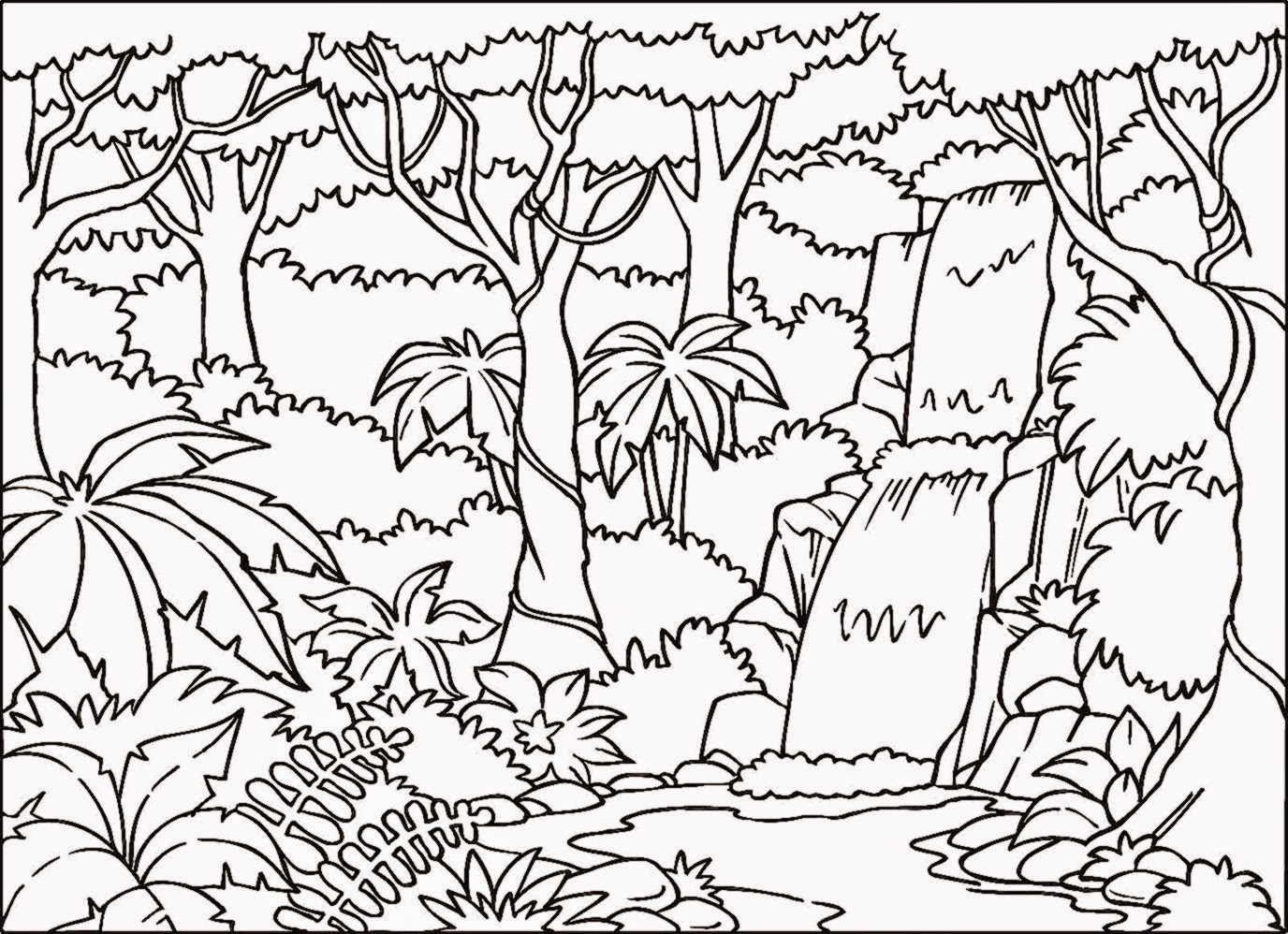 Easy Jungle Drawing at GetDrawings.com | Free for personal use Easy ...