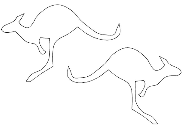 414x525 Kangaroo Coloring Pages Outline Gyvunai Pinterest Kangaroos 864x1128 Drawing 800x545
