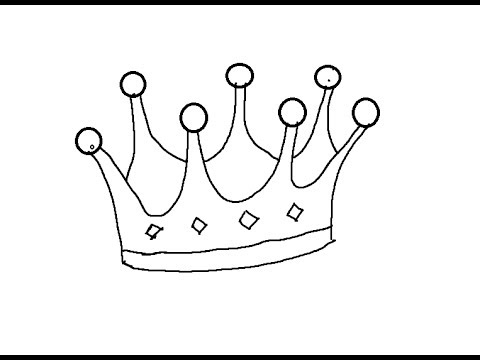 480x360 Easy Kids Drawing Lessons How To Draw Cartoon Crown