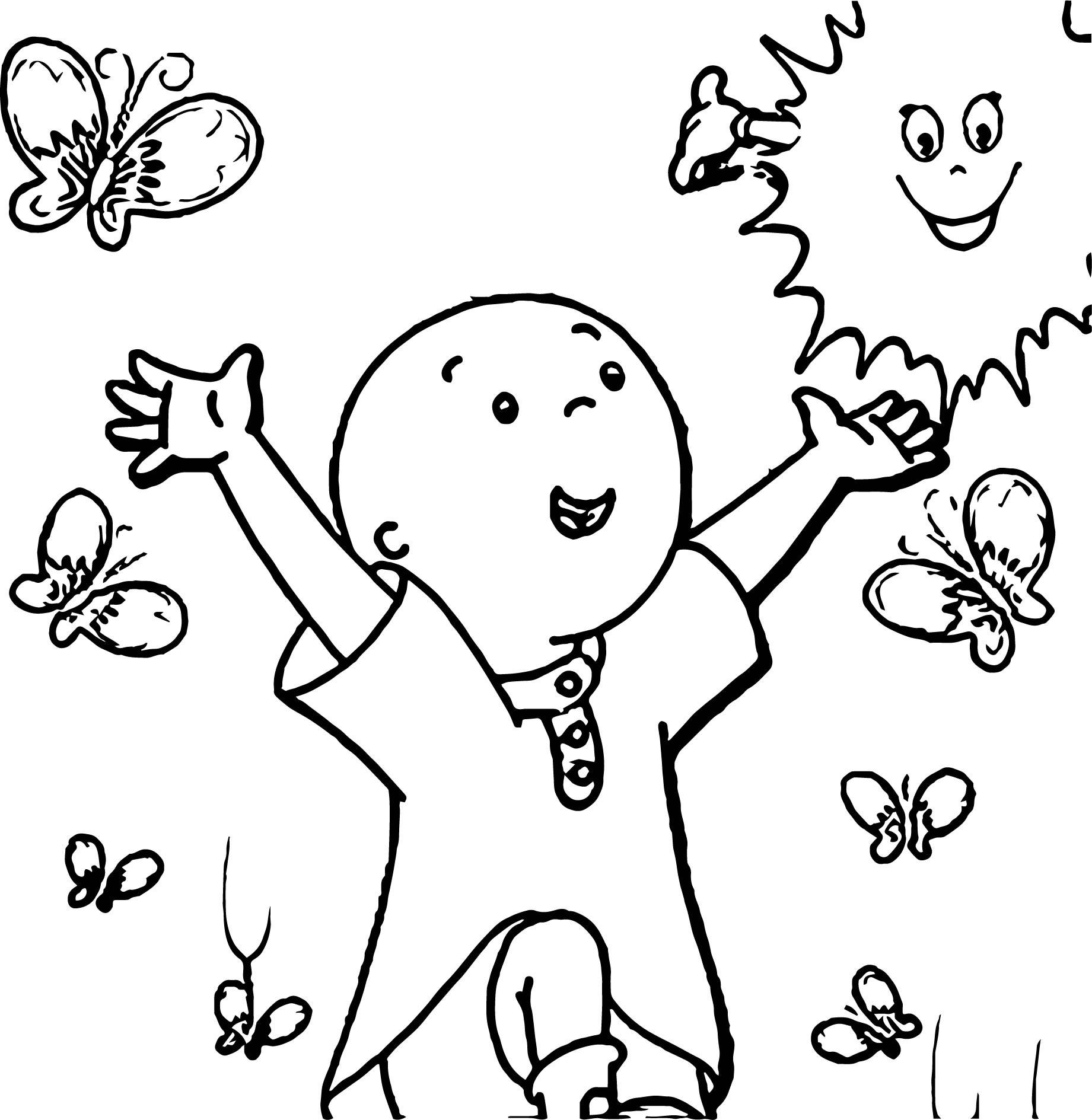 1841x1889 Caillou Coloring Pages Easy For Kids Cartoon Printable Cartoons