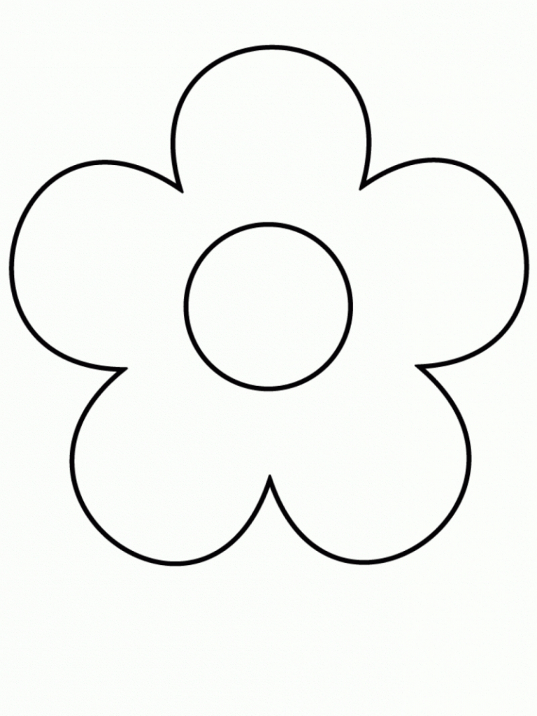 768x1024 Flowers Drawing For Kid Drawing Easy Flowers