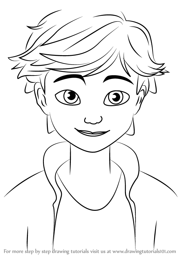 598x844 Learn How To Draw Adrien Agreste From Miraculous Ladybug