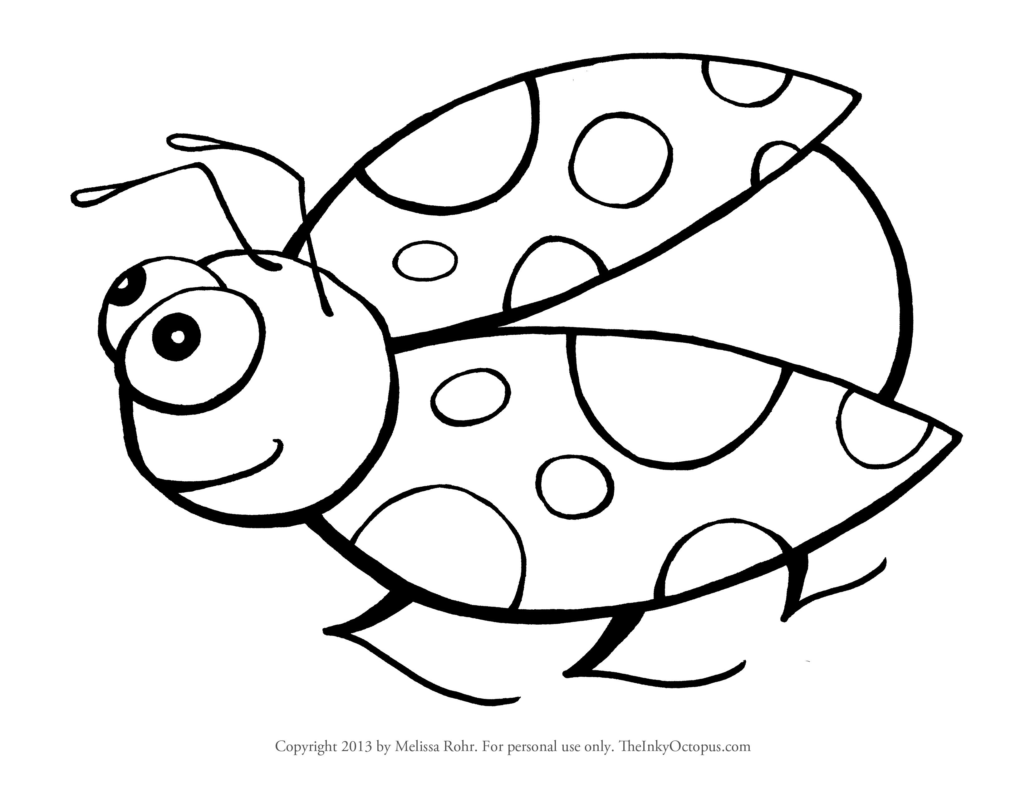 3300x2550 Cute Ladybug Coloring Pages