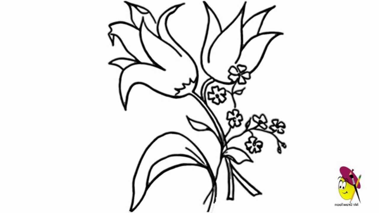 1280x720 Nice Flowers To Draw Drawn Lily Nice Flower