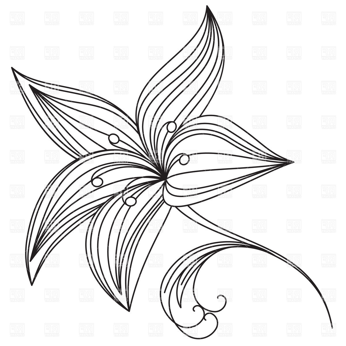 1200x1200 Simple Drawings Of A Very Beautiful Flowers Flower Drawings Easy