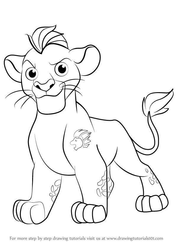 596x843 Learn How To Draw Kion From The Lion Guard (The Lion Guard) Step