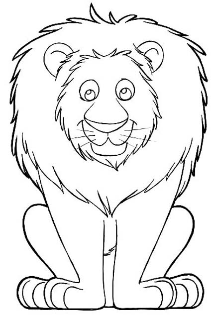 Easy Lion Drawing For Kids at GetDrawings