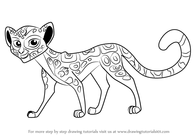 800x565 Learn How To Draw Fuli From The Lion Guard (The Lion Guard) Step