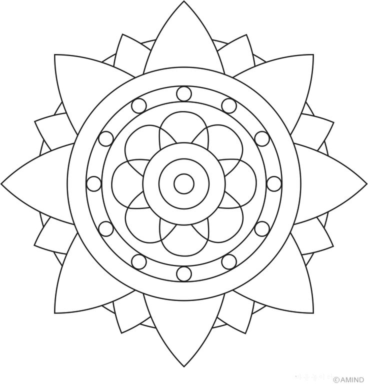 Easy Mandala Drawing at GetDrawings.com | Free for personal use Easy ...