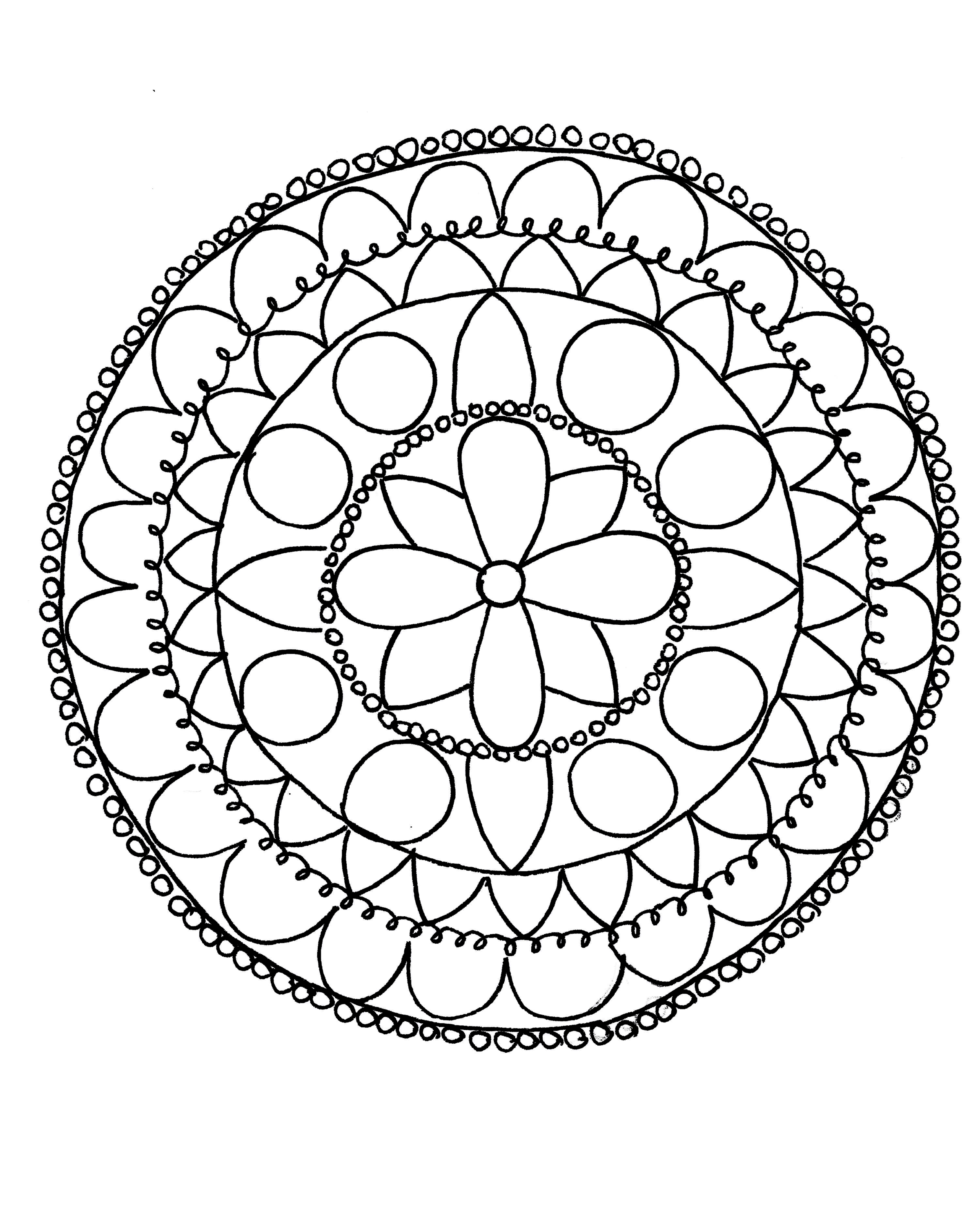 photograph relating to Free Printable Mandalas for Beginners known as Uncomplicated Mandala Drawing at  Free of charge for individual