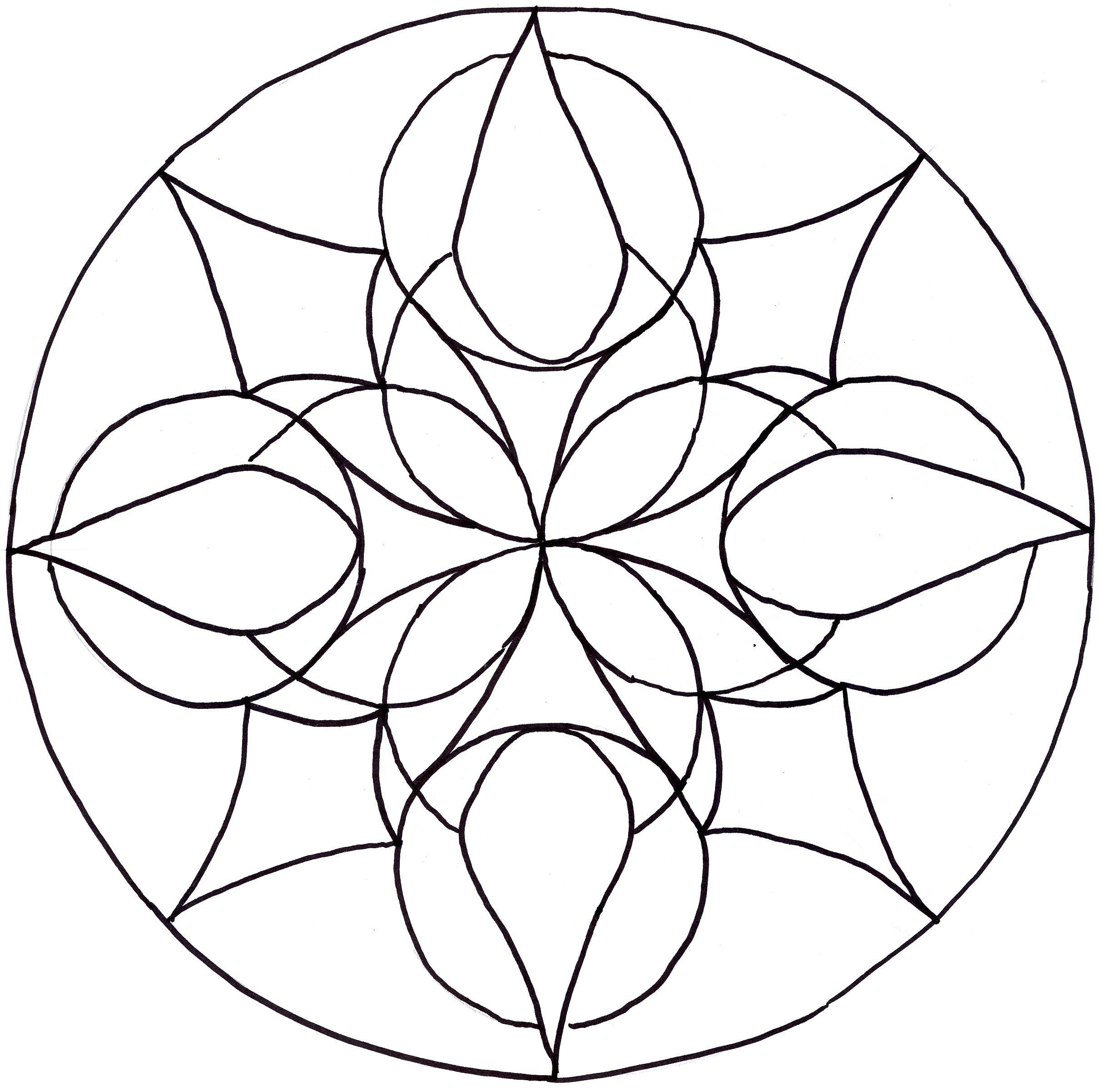 Easy Mandala Drawing At Getdrawings Com Free For Personal Use Easy