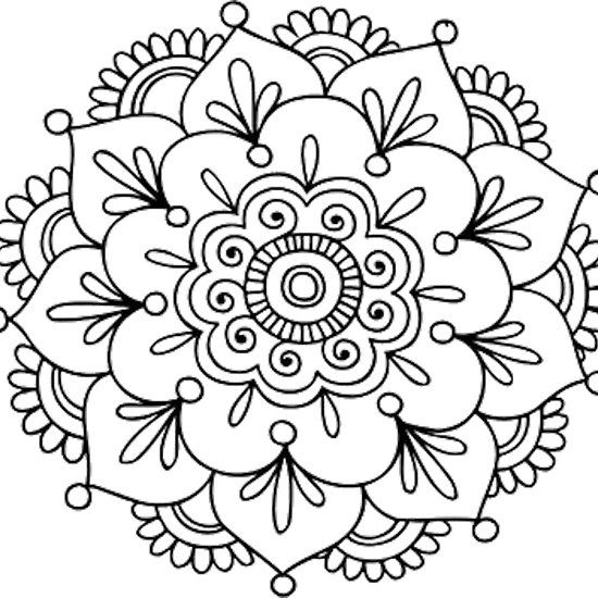 550x550 Simple Mandala Flower My Shop! Simple Mandala