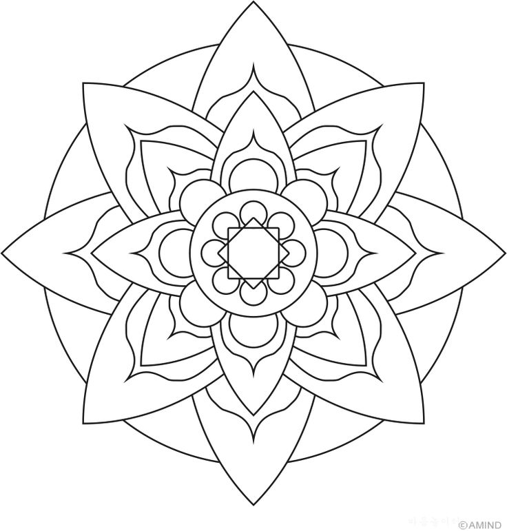 736x771 Coloring Pages Easy Mandalas To Color Simple Mandala Designs