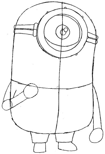 Easy Minion Drawing