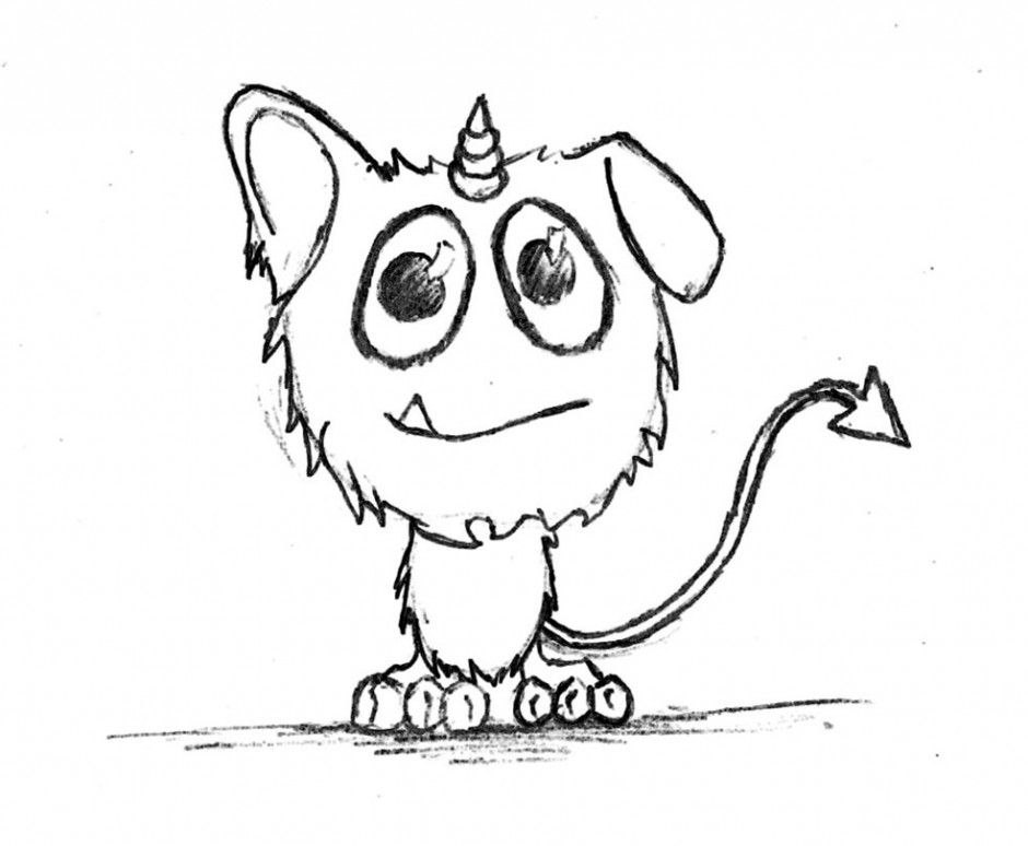 Easy Monster Drawing At Getdrawings Com Free For Personal Use Easy