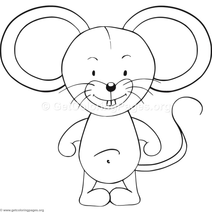 700x700 Easy Mouse Coloring Pages