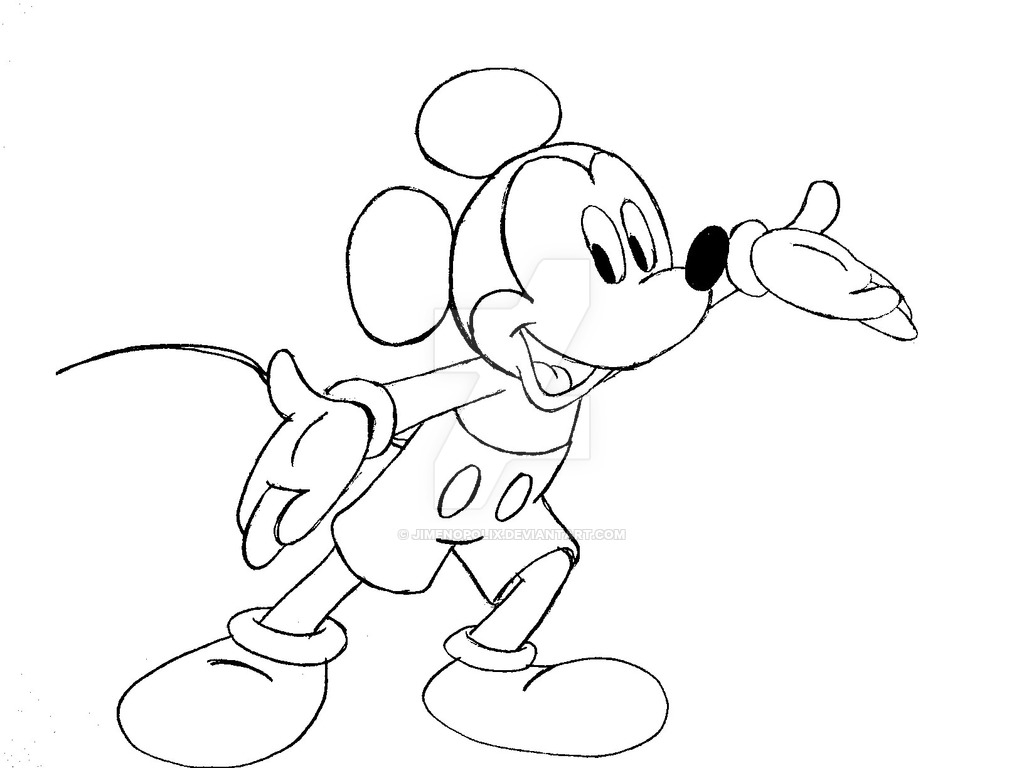 1024x768 Mickey Mouse Drawings How To Draw Mickey Mouse Cute Easy And Color