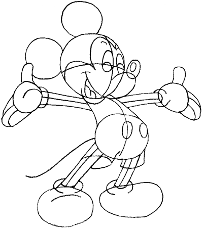 400x451 Step 7 Drawing Mickey Mouse Step By Step In Easy Lessons For Kids