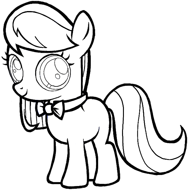 613x620 How To Draw Octavia From My Little Pony In Easy Step By Step