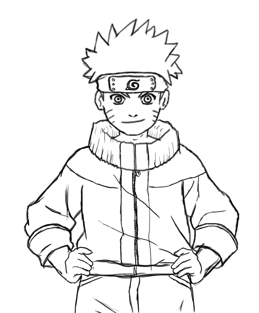 890x1072 How To Draw Naruto