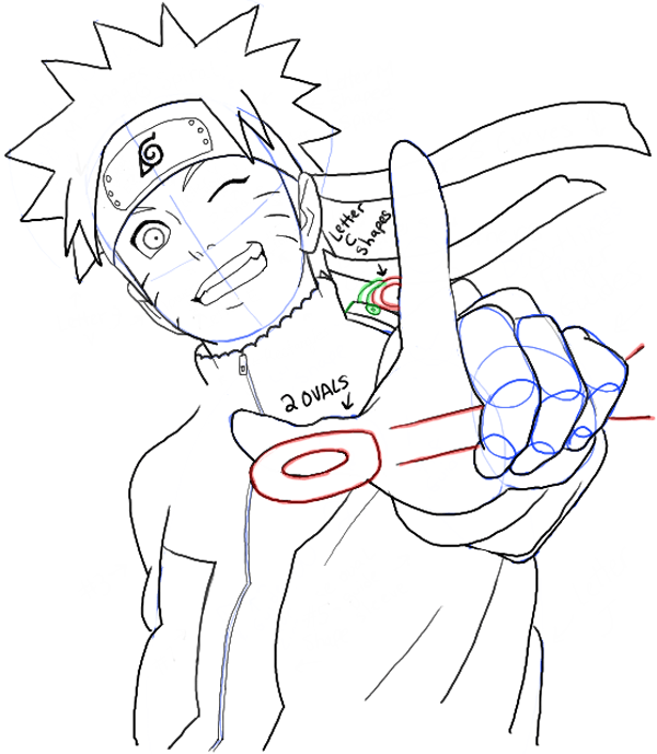 600x689 How To Draw Naruto Uzumaki Step By Step Drawing Tutorial