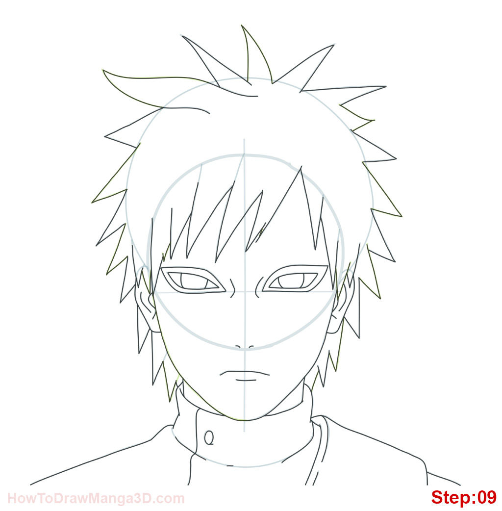1024x1042 How To Draw Gaara From Naruto