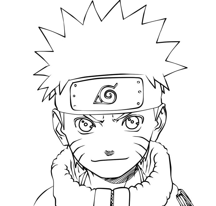 692x659 Naruto Uzumaki Lineart By 666beelzebubxii