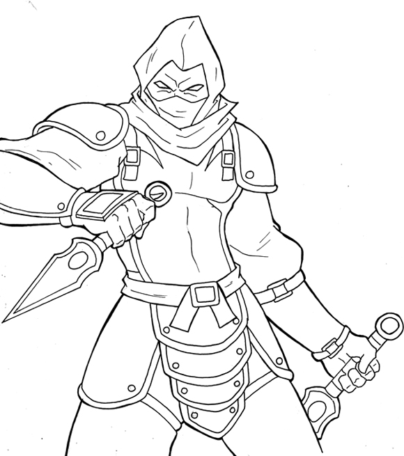 zombie ninja turtle coloring pages - photo#24