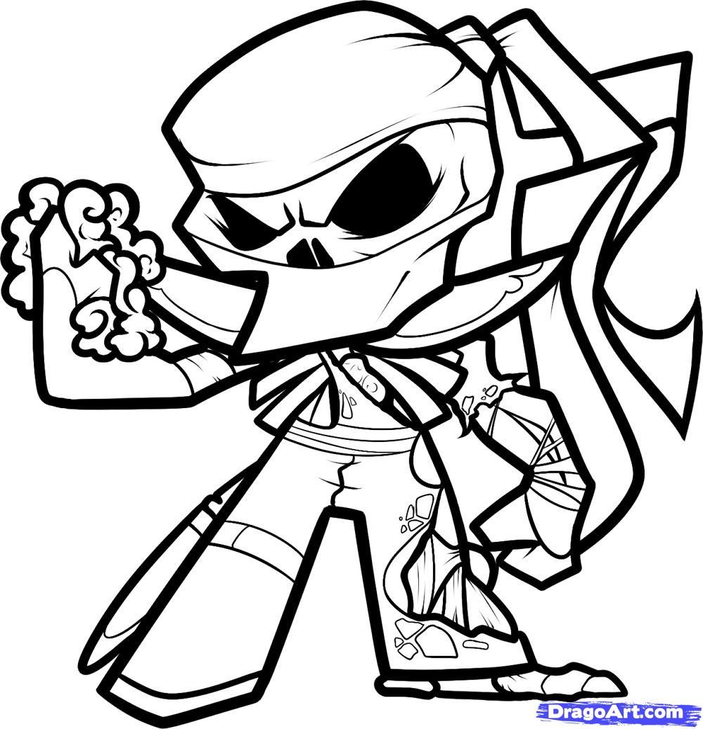 1000x1036 Cartoon Ninja Drawing How To Draw A Zombie Ninja, Zombie Ninja