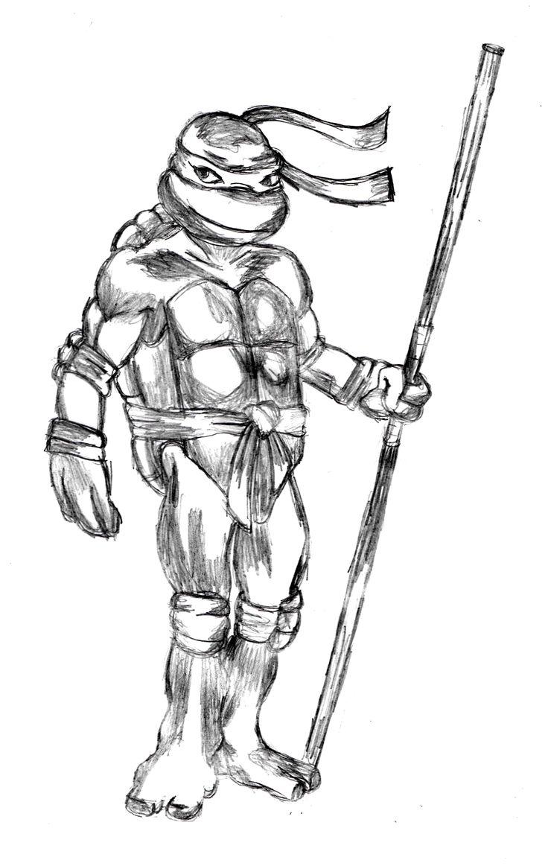 Easy Ninja Turtle Drawing