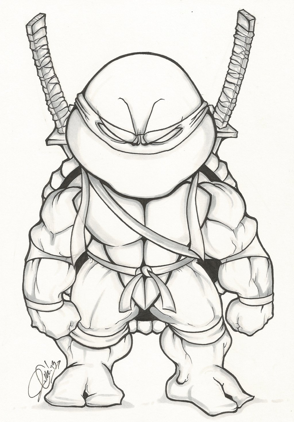 easy ninja turtle drawing at getdrawings com free for personal use