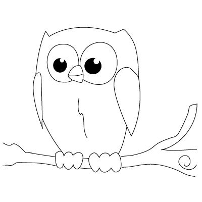 Easy Owl Drawing
