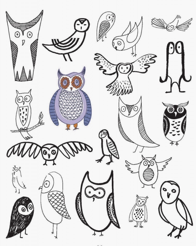 818x1024 20 Ways To Draw An Owl To Get You In The Back To School Mood