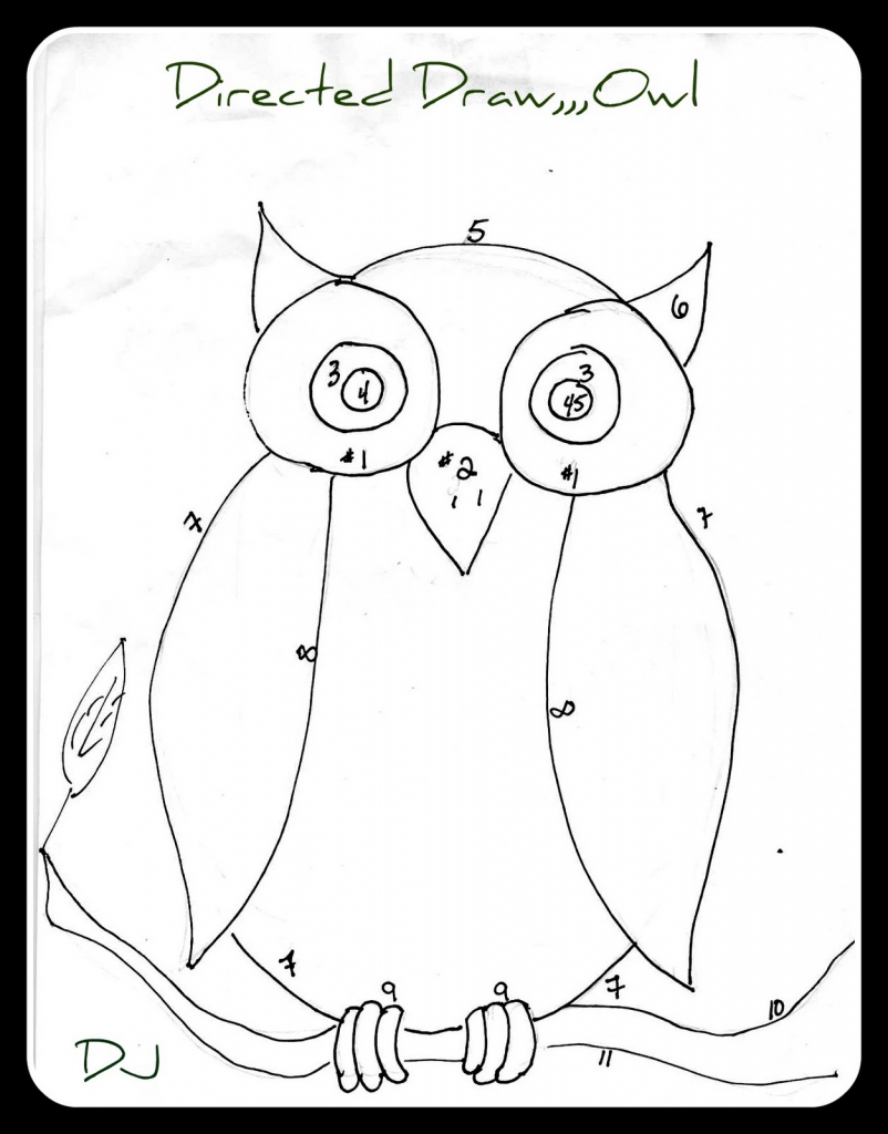 802x1024 How To Draw Owl For Kids Drawing Tutorial How To Draw