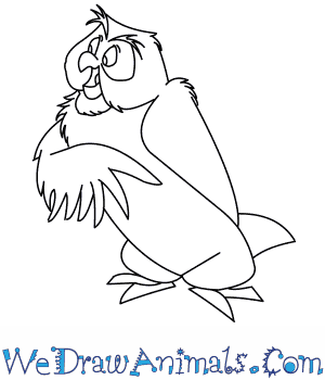 300x350 How To Draw Owl From Winnie The Pooh