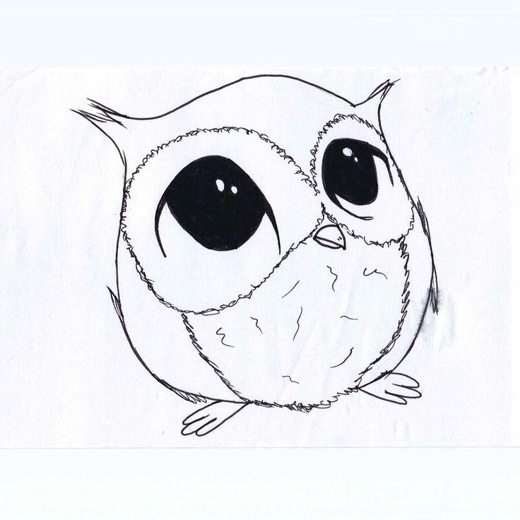 736x736 Owl Draw Simple